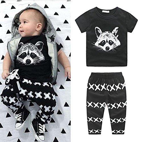Zolimx Neugeborene Kinder Baby Outfits T-Shirt Tops + Pants Kleidung Set (90)