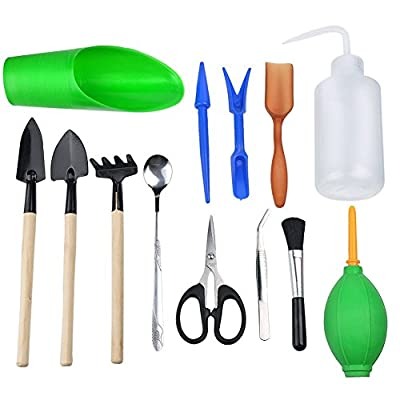 INHDBOX 13 Pcs Succulent Transplanting Mini Garden Hand Tools Set - for Indoor Garden Plant Care