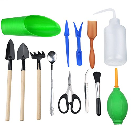 Inhdbox 13 pcs succulent transplanting mini garden hand for Garden hand tools names