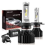 SEALIGHT H4/9003/HB2 LED Headlight Bulbs, X1 Series Dual High/Low Beam Xenon White 6000K 6000 Lumen