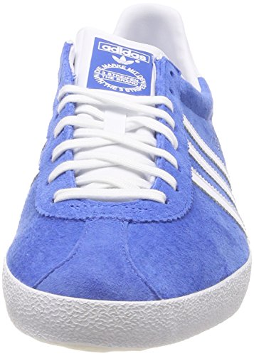 adidas Gazelle OG, Scarpe da Corsa Unisex-Adulto Blu (Blau (Air Force Blue/White/Metallic Gold))