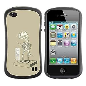 Suave TPU Caso Carcasa de Caucho Funda para Apple Iphone 4 / 4S / Paleontology T Rex Cartoon / STRONG