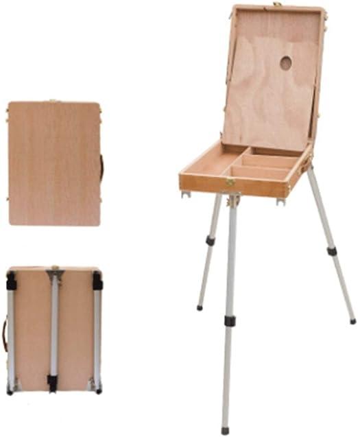 Caballetes Caballete Caja-Cuadro de madera portátil Cuadro ...