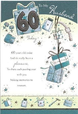 Husband 60th Birthday Card Amazoncouk Kitchen Home