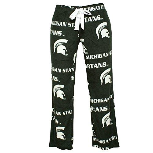Michigan State Spartans Lounge Pant (Ladies Michigan State University Pajamas Sleepwear Lounge Pants (Medium))