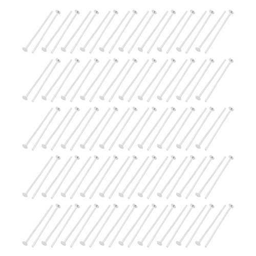 Price comparison product image uxcell 100Pcs 3cm Length Aluminum Chandelier Connector Hook Needle Silver Tone for Crystal Light
