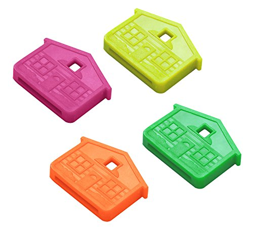 Houses Line (Lucky Line House Key Caps, Box of 100 Neon Colors (16207))