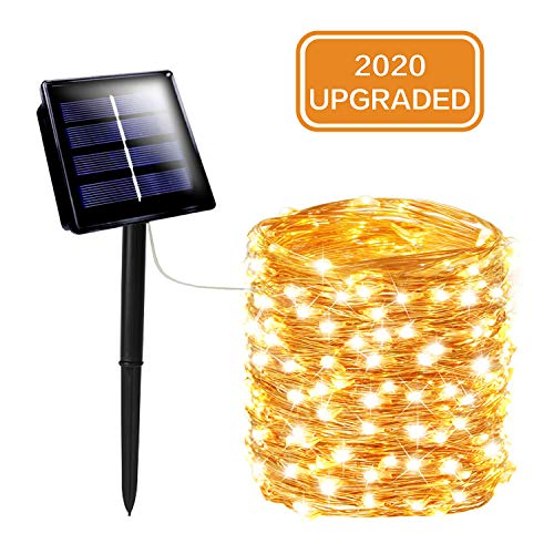 SANJICHA Solar String Lights Outdoor, Upgraded Super Bright 72FT 200LED Solar Lights Outdoor, Waterproof Copper Wire 8…