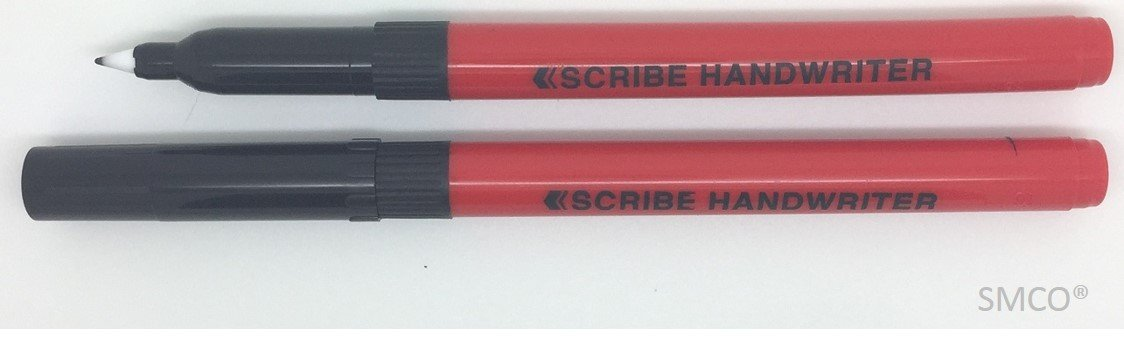 SMCO Scribe Handwriting Pen Fine Point Pack of 3 BLACK Ink Great For School