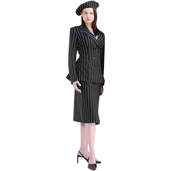 1930s Costumes- Bride of Frankenstein, Betty Boop, Olive Oyl, Bonnie & Clyde Bonnie and Clyde Costume (Large) $79.99 AT vintagedancer.com