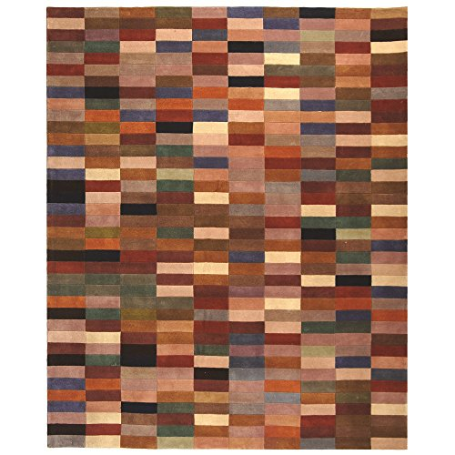 10' Rodeo Drive Collection (Safavieh Rodeo Drive Collection RD644W Handmade Modern Abstract Multicolored Wool Area Rug (8' x 10'))