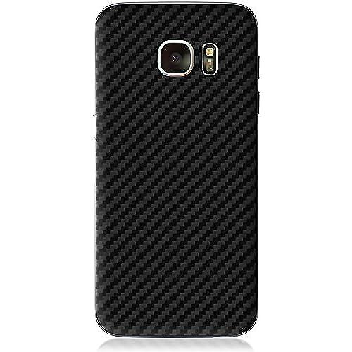 Samsung Galaxy S7 Black Texture Carbon Fiber Skin Wrap Vinyl Decal By Aretty (Black Carbon Fiber) Sales