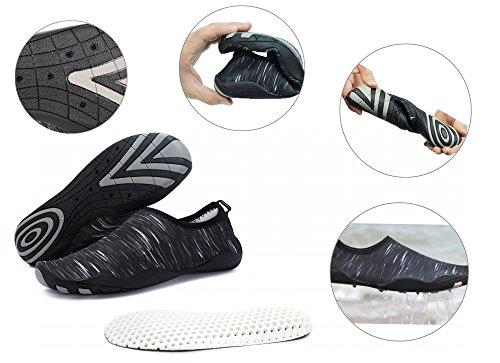Foupler Uomini Donne Mutifunctional Quick Dry Pelle Scarpe Acqua O Calze Aqua Per Nuotare Piscina Spiaggia Yoga Nero