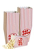 Small Movie Theater Small Popcorn Boxes - Paper Popcorn Boxes Striped Red and White, Great for movie night or movie party theme, theater themed decorations or Carnival party circus etc. (40 Boxes)