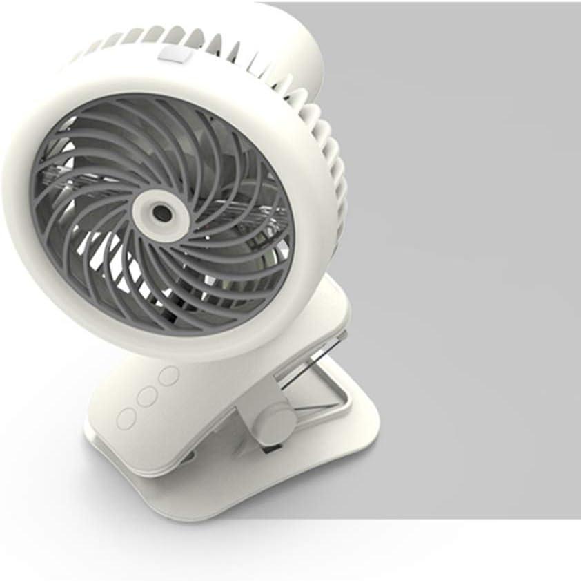 Creacom Mini Ventilador USB con Clip y Agua nebulizada, Mini Ventilador USB con Clip y Agua nebulizada Acondicionadores de Aire móviles Blanco
