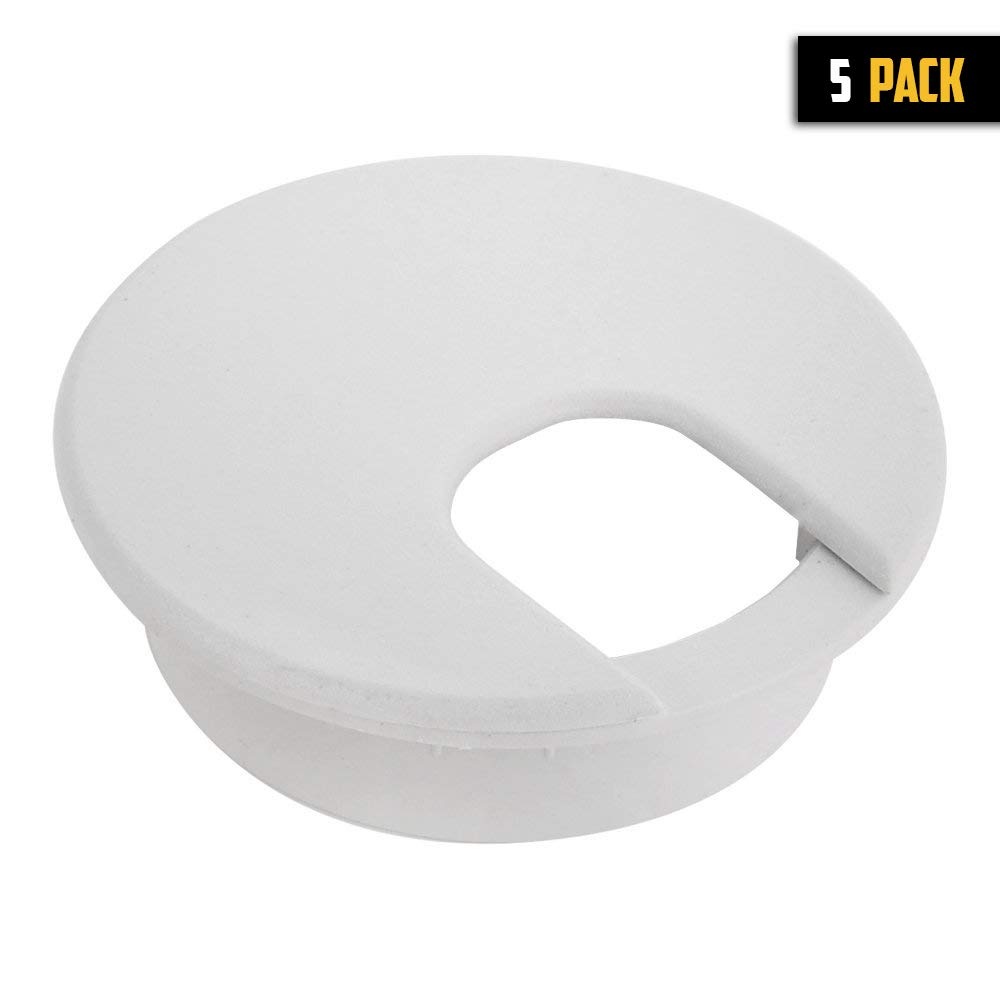 Desk Grommet 2 White 5 Pack Plastic Wire Cable Organizer