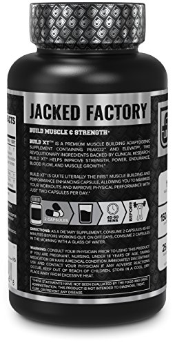 BUILD-XT Muscle Builder - Daily Muscle Building Supplement for Muscle Growth and Strength | Featuring Powerful Ingredients Peak02 & elevATP - 60 Veggie Pills by Jacked Factory (Image #2)
