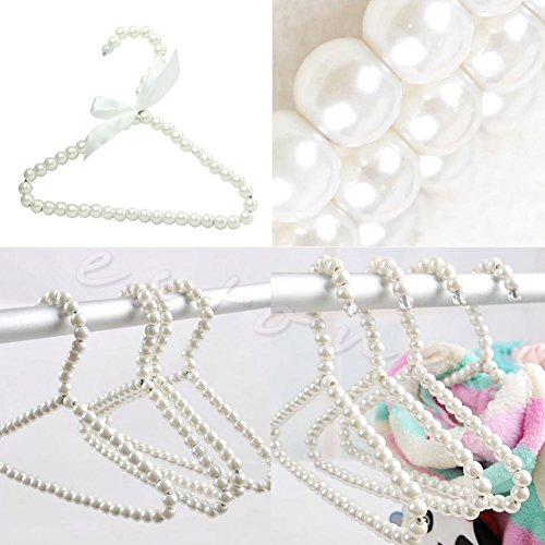 EUTTEUM 3Pcs Plastic Pearl Bow New Clothes Hangers For Kid Children Fashion - Uk Photo Reclaimed Wood Frames
