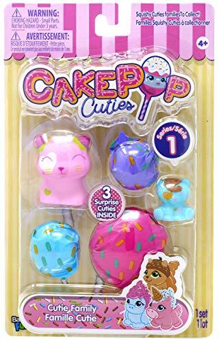 Basic Fun Cakepop Cuties - Kitty Cutie Family - 3 Surprise Cuties Inside ()
