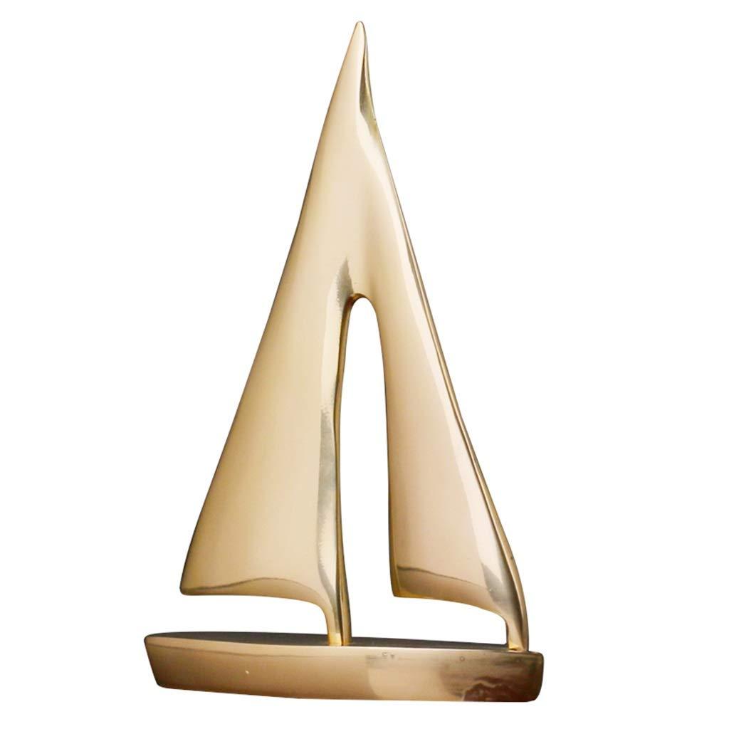 リビングルームクリエイティブデコレーション セーリング工芸品 ホームデコレーション オフィス寝室装飾 出店ギフト (Color : Brass, Size : 30*19cm) 30*19cm Brass B07SXDMZRN