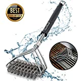 Grill Brush and Scraper Grill Brush Bristle Free - Grill Brsh 18'' for Porcelain Grates Outdoor Stainless Steel Grill Cleaner Tool - BBQ Safe Scraper Barbeque Cleaning Accessories Stainl …