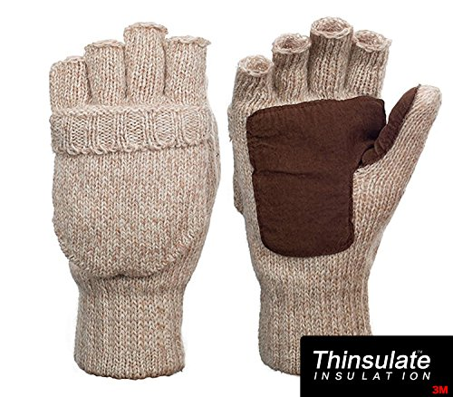 Metog+Suede+Thinsulate+Thermal+Insulation+Mittens+Beige+L