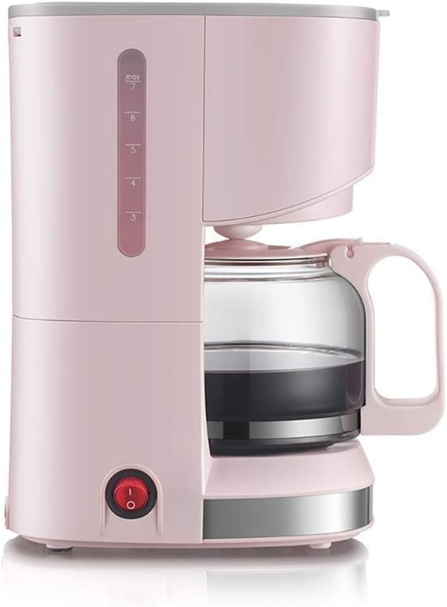 Amazon Com Coffee Machines Domestic Espresso American Domestic Drip Filter Type Coffee Machines 0 7l 14 May Be Insulated Cup Pink Gray Color Pink Kitchen Dining