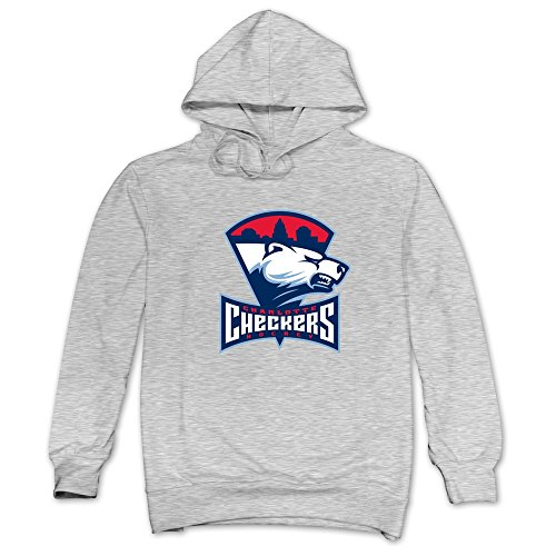 JUST Men's Fan Appreciation Charlotte Checkers Logo Hoodie Sweatshirt Ash