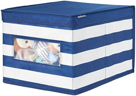 mDesign Caja con Tapa para Guardar Ropa o Juguetes – Organizador ...