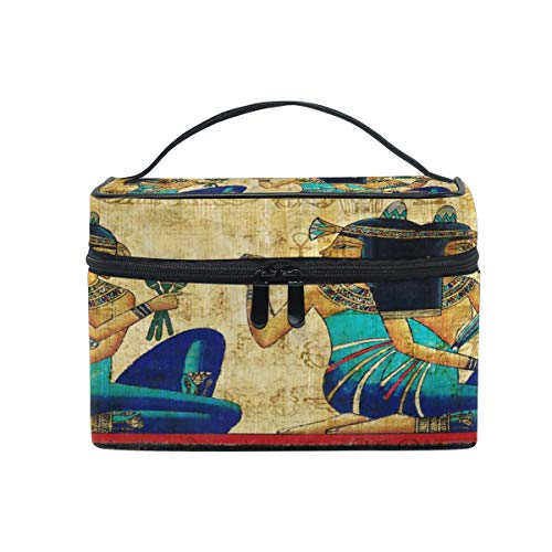 XMCL Ancient Egyptian Portable Cosmetic Bag Makeup Organizer Case Multifunction Toiletry Bag for Women Girls