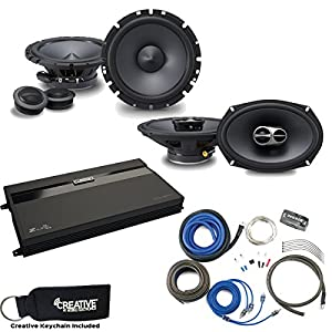 "Alpine Type-S SPS-610C 6.5"" Component Speakers, SPS-619 6x9 Speakers, MB Quart ZA2-1600.4 4-Channel Amp & Wire Kit"