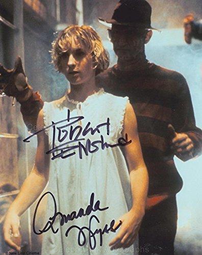 ROBERT ENGLUND & AMANDA WYSS as Freddy Krueger & Tina Gray - Nightmare On Elm Street GENUINE AUTOGRAPHS