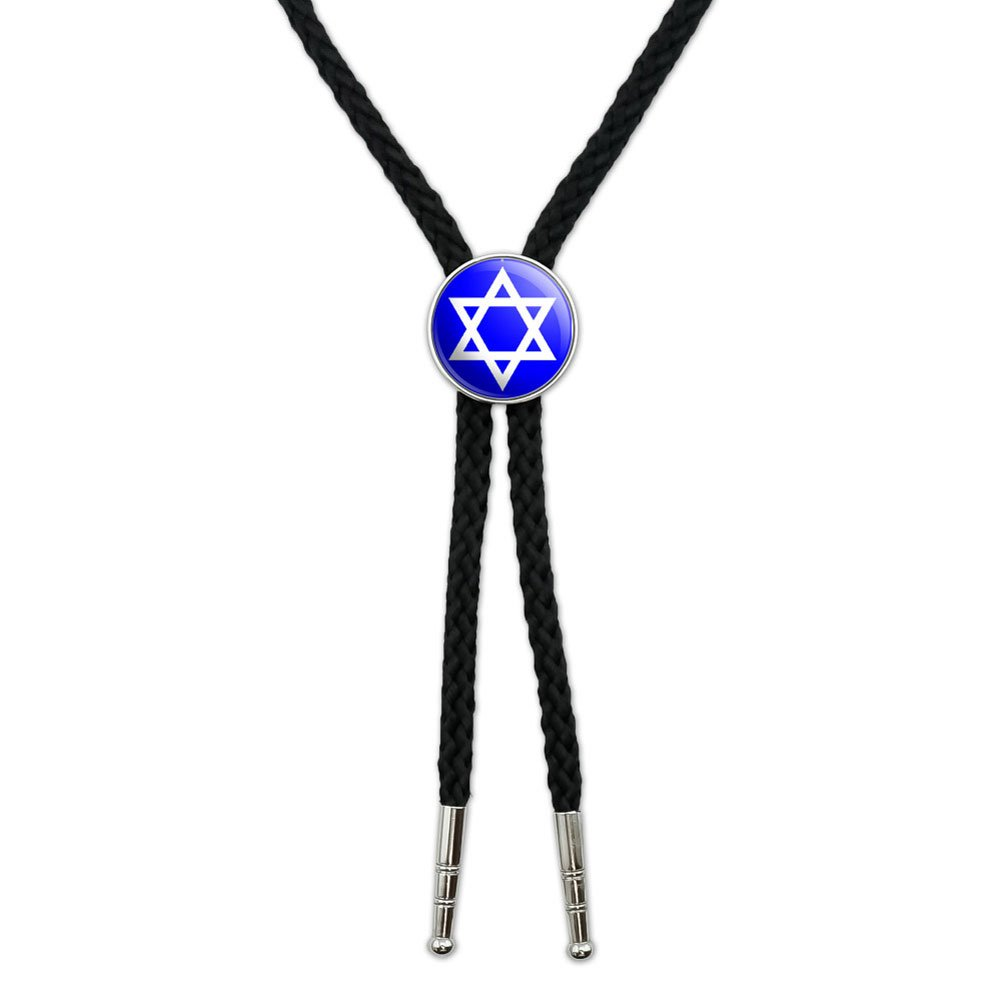 Star of David - Shield Jewish Western Southwest Cowboy Necktie Bow Bolo Tie Graphics and More BOLOTIE.PL.0257