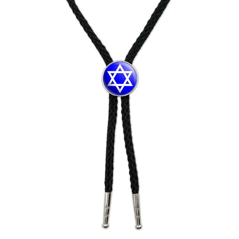 Star of David - Shield Jewish Western Southwest Cowboy Necktie Bow Bolo Tie Graphics and More BOLOTIE.PL.0257
