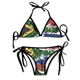 Abstract South Africa Flag Female Retro Adjustable Swimsuit Bikini Set