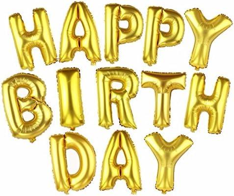 HAPPY BIRTHDAY お誕生日おめでとう バルーン 風船 文字 パーティ イベント LZ-013f (ゴールド)