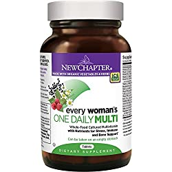 New Chapter Every Woman's One Daily, Women's Multivitamin Fermented with Probiotics + Iron + B Vitamins + Vitamin D3 + Organic Non-GMO Ingredients - 48 ct