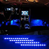#7: iTimo Car Auto Vehicle Interior Decoration Atmosphere Lights Led Flexible Strip Light Bar - Blue 4 x 12LED DC12v