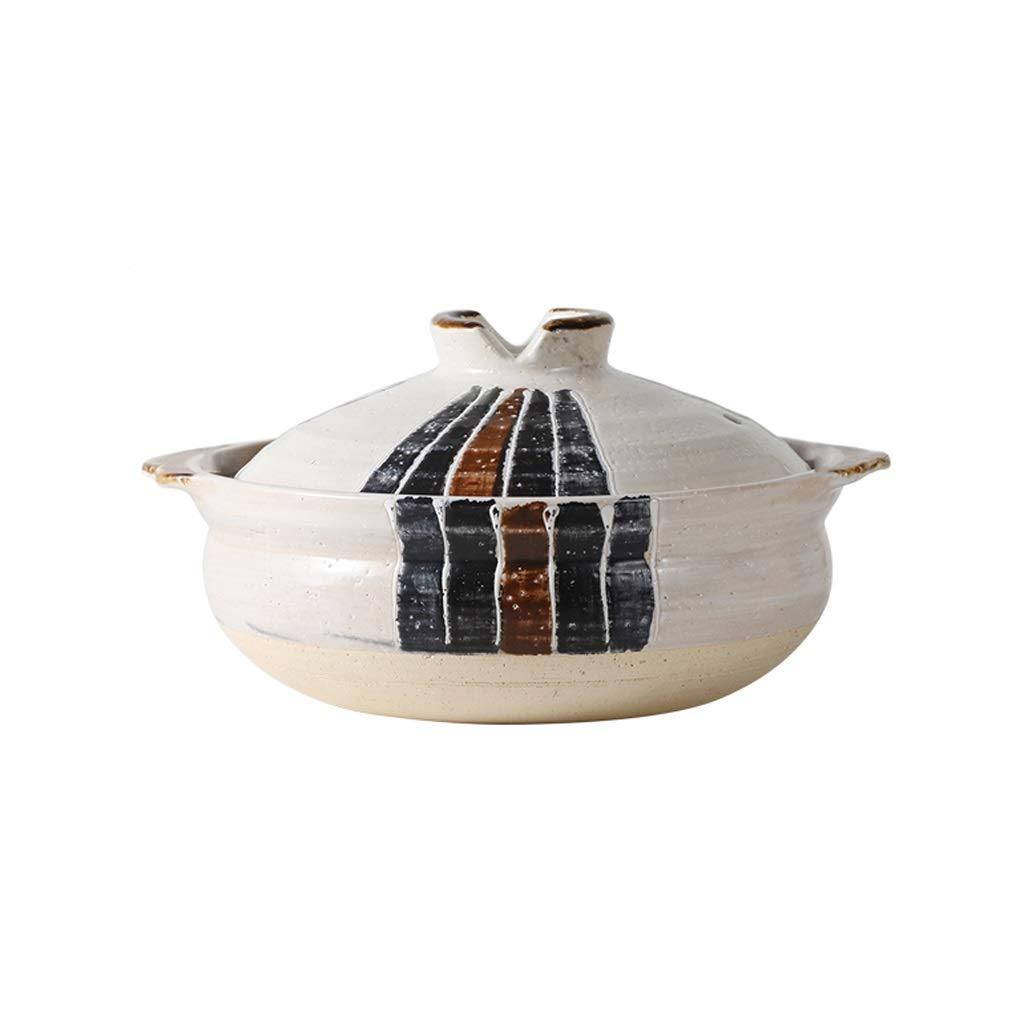 MUTANG Vintage Hand-painted Small Earthenware Casserole Cooker Household Gas High Temperature Resistant Soup Pot Pot Rice Pot (Size : 1.2L)