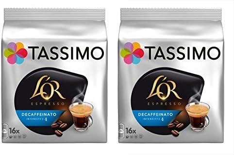2 x 16 Discos de café Tassimo Lor Espresso Descafeinado Decaf/porciones (total 32 Porciones): Amazon.es: Alimentación y bebidas