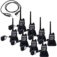 BaoFeng Pack of 8 UV-5RB 5W 128 Channels 136~174MHz/400~520MHz Dual-band Dual-display Wireless Multifunction Walkie Talkie