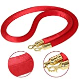 Red Velvet Stanchion Rope Crowd Control Rope
