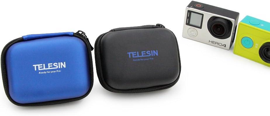 Telesin Wasserdichte Mini Tasche Tasche Tragetasche Für Gopro Hero 8 Hero 7 Hero 6 Hero 5 Hero 4 3 Sjcam Serie Xiaomi Yi Xiaomi Yi2 4k 4k Polaroid Cube Cube Action Kameras Pu Aufbewahrungsbox Blau Amazon De