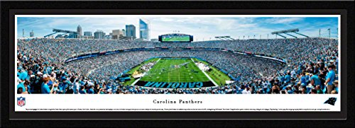 (Carolina Panthers - End Zone - Single Mat, Select Framed NFL Print by Blakeway Panoramas)