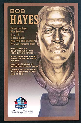 (PRO FOOTBALL HALL OF FAME Bob Hayes NFL Bronze Bust Set Card Postcard (Limited Edition #31 of 150))