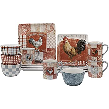 Amazon.com | Certified International Corp 89112 Farm House Rooster ...