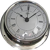 BARIGO Sky Series Quartz Ships Clock - Stainless Steel Housing - 3.3 Dial