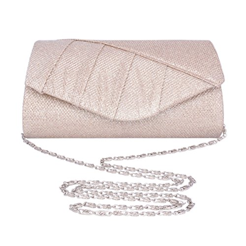 Bag Glitter Champagne Adoptfade Envelope Vintage Evening Womens Clutch PwAqTU