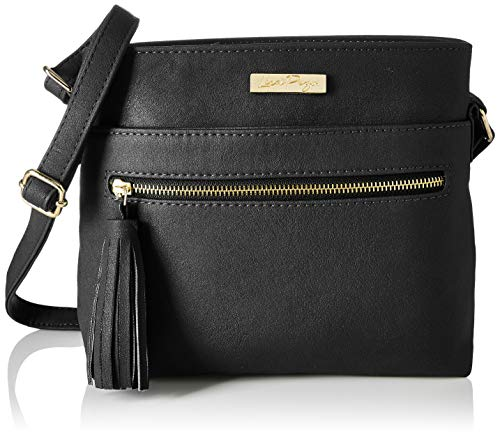Lica Pezo Front Zip Women Sling Bag (Black)