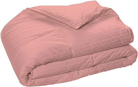 King Size All Season Down Alternative Comforter Egyptian Cotton Burgundy Striped